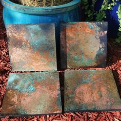 Chandler Arizona, Various copper wall hangings with Patina… Copper Wall Art, Metal Tree Wall Art, Diy Wall Art, Metal Art, Patina Metal, Faux Painting, Painting Techniques, Sculpture, Hans Wegner