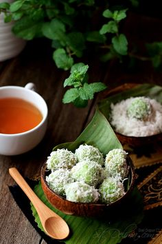 "A special snack called ""onde onde"" that has the sweetness of Gula Melaka (palm sugar) bursting into your mouth with one bite"