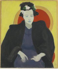 blastedheath: Milton Avery (American, 1885-1965), Artist's Wife, 1945. Oil on canvas, 30 x 25 in.