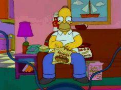 Trending GIF homer simpson the simpsons simpsons hungry homer popcorn simpson snacks eating popcorn pig out The Simpsons, Simpsons Funny, Simpsons Quotes, Homer Simpson, Lisa Simpson, Manuel Ferreira, Los Simsons, Eating Gif, Santa's Little Helper