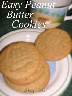 In Cindy's Kitchen: Easy Peanut Butter Cookies: Only 3 Ingredients