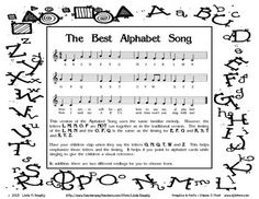 The Best Alphabet Song Creative Teaching, Teaching Tools, Teaching Resources, Teaching Ideas, Comprehension Activities, Reading Comprehension, Sight Words List, Alphabet Songs, Arts Integration