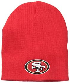 NFL San Francisco 49ers 47 Beanie Knit Hat Red One Size   You can get more 5ab545e7c