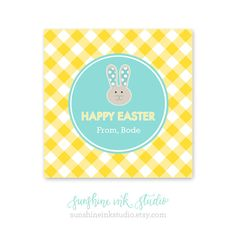 Personalized Printable Kids Happy Easter Gift by SunshineInkStudio