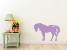 Pony horse with heart vinyl Wall DECAL Animal by EyvalDecal, $25.00