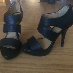 Black Heels Amazing condition, worn once, Fergalicious by Fergie Fergie Shoes Heels