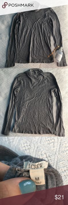 J. Crew grey turtle neck tee This top shows no signs of wear and is great J. Crew quality. Open to offers J. Crew Tops Tees - Long Sleeve