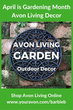 April is Gardening Month and Avon Living has Simple Spring Style to help you spruce up your garden.  Shop Avon Living Garden Decor at https://barbieb.avonrepresentative.com