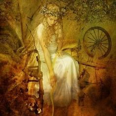 Image result for witch at spinning wheel images