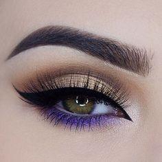 I like the purple eye makeup detail - Make up! - I like the purple eye makeup detail I like the purple eye makeup detail Purple Eye Makeup, Makeup Eye Looks, Beautiful Eye Makeup, Eye Makeup Art, Cute Makeup, Pretty Makeup, Skin Makeup, Makeup Inspo, Eyeshadow Makeup