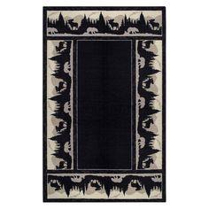 Woodland Silhouette Black/Tan Area Rug