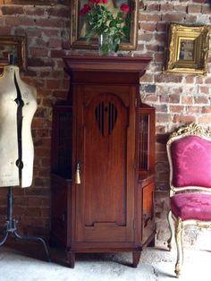 arts crafts oak carved fruit marble top mirror back sideboard rh pinterest com