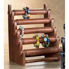 Wood Bangle Stand Large (Pack Of 2) 12250 - Wood Bangle Stand Large (Pack Of 2) 12250SKU: 12250Manufacturer: India HandicraftsCategory: Easels & DisplaysSub-Category: TabletopDimensions: 12x15""