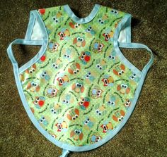Waterproof Bapron/The Baby Apron - 6-18 months with Owls by GrandmaSewsBest on Etsy