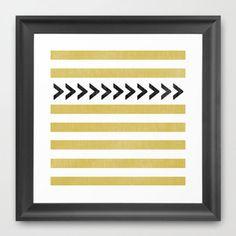 Muted Gold Pattern Print