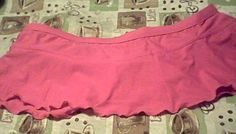 $12.00 w/ Free Shipping   Hot Pink Plus Size Bikin Bottom Skirt New XL