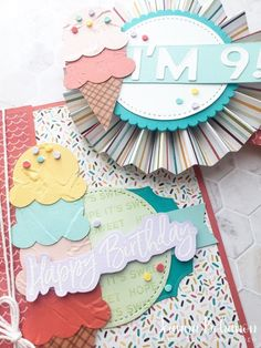 OSAT Blog Hop - Stampin' Up! Ice Cream Corner card and birthday button. Heres To You, Time Design, Stampin Up, Birthdays, Ice Cream, Cheers, Card Ideas, Blog, Cards