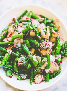 Asparagus and radishes with mint: An easy 10-minute side dish that celebrates the best of spring.