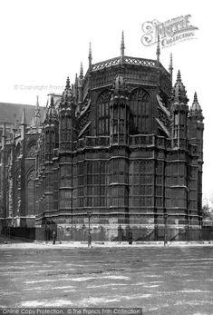 #London, #Westminster Abbey, East End Of Henry Vii Chapel 1890. We are looking from Parliament's St Stephen's Entrance. The chapel, at the abbey's east end, was completed in 1512 after ten years of building work. It was to be the Lady Chapel, but it is better known as the burial place of the first Tudor king and his wife. #HistoricLondon