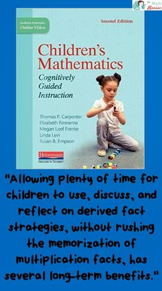 Teachers are always looking for ways to get their students to be proficient with math facts.   Using Cognitively Guided Instruction has helped students in my school understand the conceptual pieces of multiplication that they need to have in order to recall facts quickly.