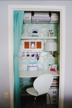 Another great closet turned office.