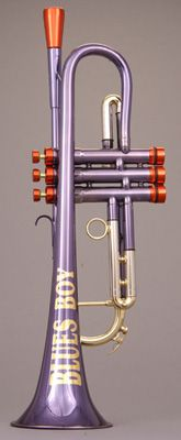 The Blues Boy trumpet (NMM 7225) by Andy Taylor, Norwich, 1995 - from Joe Utley's collection.
