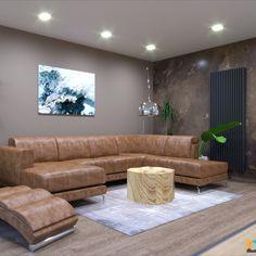 Kožená sedačka, návrhy interiérov online dizajn