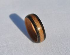Handmade Mahogany Bentwood Ring with Bronze by KatsuraWoodworking