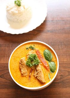 Thai Red Curry Chicken Recipe, Thai chicken curry | thai curry recipes:Fiery, spicy, hot, delicious with a hint of coconut milk is Thai Red Curry Chicken.