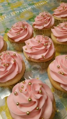 Baby shower cupcake pictures pure delights baking co. 1st Birthday Cupcakes, Pink And Gold Birthday Party, 13th Birthday Parties, Golden Birthday, Sweet 16 Birthday, Baby Shower Cupcakes, Girl First Birthday, Shower Cakes, 25th Birthday