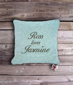 Remind your partner of how much you looove them on Valentines Day! Personalised Valentine's Cushion.