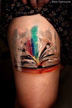 An unusual book tattoo