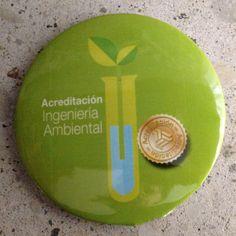 Botón de 5.5 cm.  Ingeniería Ambiental. La Salle, 2016