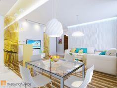 Интерьер светлой кухни-гостиной / living room / living room paint / living room decor / living room interior design /  #design #interior #homedecor #interiordesign
