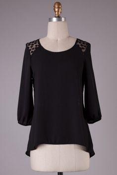 Lace Top -Black