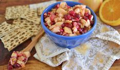 Apple and Cranberry Charoset. Tip: If you ran out of frozen cranberries, we suggest substituting them for Craisins® Dried Cranberries (plump them up by soaking them in water before adding to the recipe). Passover Recipes, Jewish Recipes, Passover Menu, Charoset Recipe, Craisins Recipes, Spring Recipes, Holiday Recipes, Holiday Ideas, Sweet Red Wines