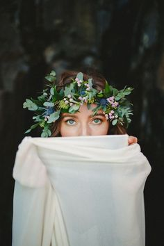 Naturally beautiful and organic Oregon beach bridal session by Donny Zavala Photography with a Truvelle wedding dress. Bridal Session, Bridal Shoot, Bridal Crown, Bridal Hair, Bridal Headpieces, Corona Floral, Thistle Flower, Flower Crown Hairstyle, Editorial Hair