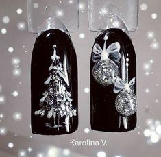 50 Beautiful Stylish and Trendy Nail Art Designs for Christmas Nail Art Noel, Xmas Nail Art, Christmas Nail Art Designs, Holiday Nail Art, Xmas Nails, New Year's Nails, Winter Nail Designs, Winter Nail Art, Winter Nails