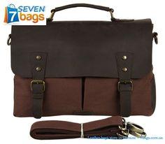 Купить сумку из парусины? 7bags.com.ua поможет - только у нас широкий выбор брендовых сумок из комбинации канвы, парусины и натуральной лошадиной кожи!  Повседневная кожаная сумка  кросс-боди John McDee  Симпатичная кожаная сумка  кросс-боди John McDee JD9013C располагает массой вместительный карманов для вещей первой необходимости. В офисе, в магазине, на улице вы будете чувствовать себя как рыба в воде и знать место любой своей вещи. Удобные размеры 11.5 х 29 х 36 см позволять носить с…