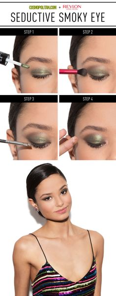 You always look gorgeous in that no-makeup makeup, but if you're in the mood to try something sultry, go for a neutral lip and bold smoky eye.