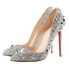 Louboutin Alti Spikes, now these are magic shoes to me, who needs ruby slippers, Give me sparkly high heels, deanna