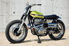 A stunning Yamaha XS650 tracker from the Japanese custom shop Big Moon.