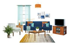 """Living Room"" by goldenceren219 ❤ liked on Polyvore featuring interior, interiors, interior design, home, home decor, interior decorating, Martha Stewart, Linie Design, Joybird Furniture and Abbyson Living"
