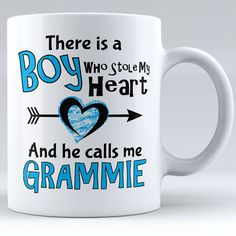 Personalized There Is A Boy Who Stole My Heart And He Calls Me Grandma Ceramic Mug