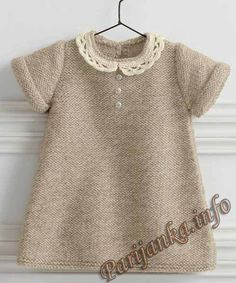 I am looking for a stylish dress for a girl of years I am looking for a stylish dress for a girl of yearsShopping net with adjustable handle - free crochet patternFree knitting patternKnitting patter. Girls Knitted Dress, Knit Baby Dress, Knitted Baby Clothes, Smocked Baby Dresses, Baby Girl Dresses, Baby Outfits, Dress Girl, Knitting For Kids, Baby Knitting Patterns