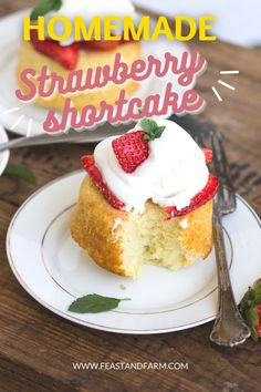 Perfectly portioned and homemade! Strawberry shortcake cupcakes are a great way to satisfy the sweet tooth without overeating. Plus, these have way more flavor than the imposters from the grocery store. Easy Homemade Desserts, Homemade Cake Recipes, Best Cake Recipes, Easy Recipes, Dessert Recipes, Homemade Strawberry Shortcake, Cake Recipes From Scratch, Healthy Comfort Food, Spring Recipes
