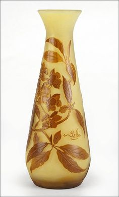 E.GALLE ___A  Cameo Glass Vase :