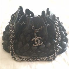 Chanel Bag Lambskin and Canvas. Very rare bag. 2008 collection. In great condition CHANEL Bags