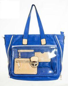 K8718.ESCAPE PVC POCKET TOTE BAG #wholesaledesignerhandbags Wholesale Designer Handbags, Online Shopping Stores, Tote Bag, Pocket, Stylish, Fashion, Moda, Fashion Styles, Totes