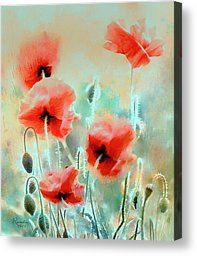 Morning Poppies by Rosalina Atanasova - Morning Poppies Painting - Morning Poppies Fine Art Prints and Posters for Sale